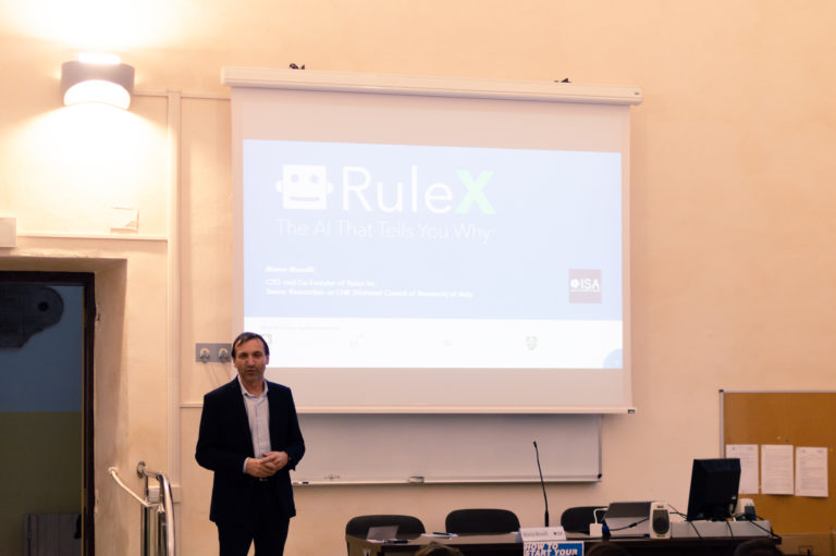 Evento how to start your business - Marco Muselli di Rulex