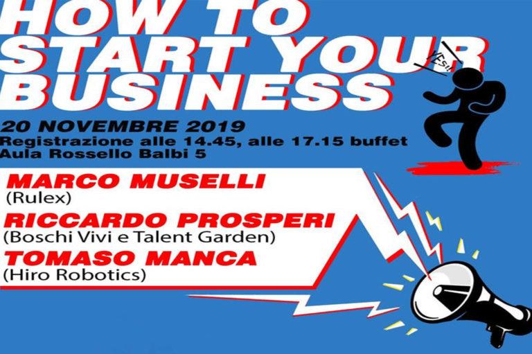 ISA - Eventi - Locandina - How to start your business